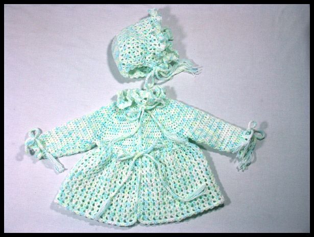 Ruffled Sweater & Hat, sz 6-12 mos, $35