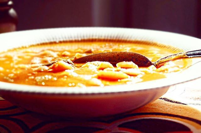 Can't think of a better dish for a cold winter's day and for that #winter flu (unfortunately for me) than the #traditional #Greek Fasolada (white bean soup). Make sure not to forget to use Greek extra virgin #olive #oil on top, to keep all its precious #vitamins. #Delicious #greece #recipes #secretsinmykitchen #feedfeed #foodie #food52 #beautifulcuisines #dubai #mydubai #homemade #happy #life #yummy #oliveoil