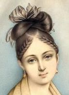 frühe 1830er Tagesfrisur