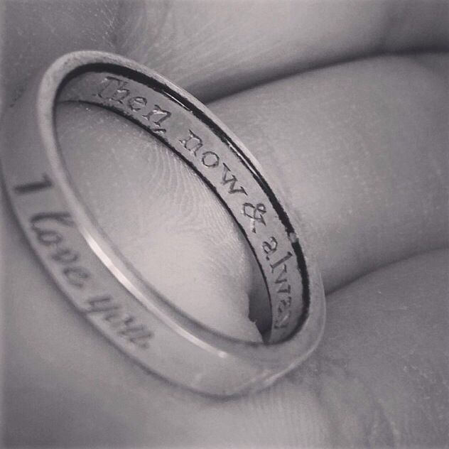Cutest promise ring or anniversary gift idea!! Engraved Tiffany's ring. <3