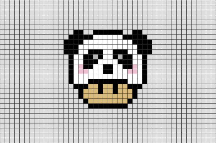 panda mario mushroom pixel art from brikbook com  panda