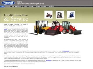 Forkwest provides great forklifts and related equipment to customers in Western Australia.