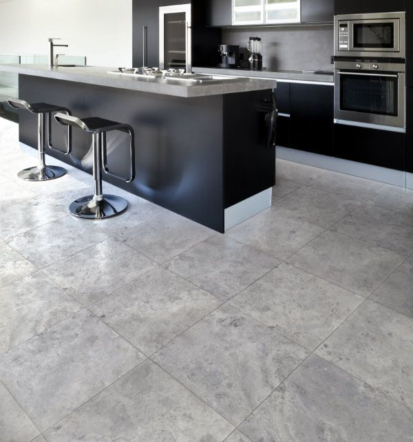 Astro Grey Marble Kitchen Floor From Ca' Pietra.