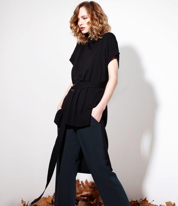 Pilgrim Sweater in Black - 100% Merinowww.nineteen46.co.nz
