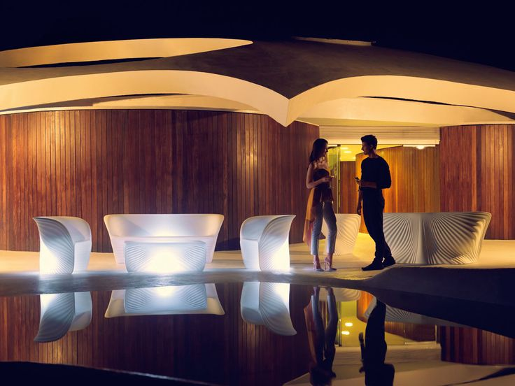 Biophilia collection, outdoor furniture with LED feature