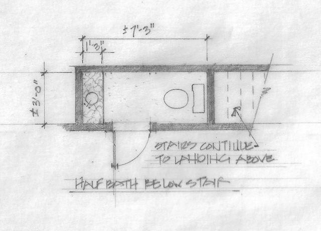 Small powder room floor plans powder room renovation - Small half bathroom layout ...