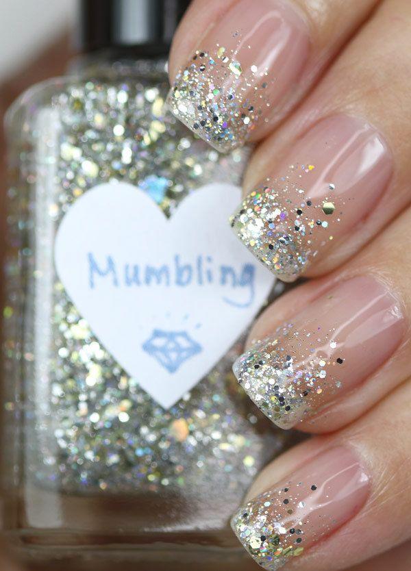 Mumbling Silver and Gold Glitter Nail Polish by TheHungryAsian, $9.25