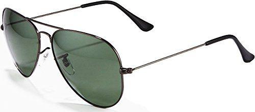 ATTCL® 2015 Klassik Metallrahmen Polarisierte Fahren Aviator Sonnenbrille Herren 13026 grün