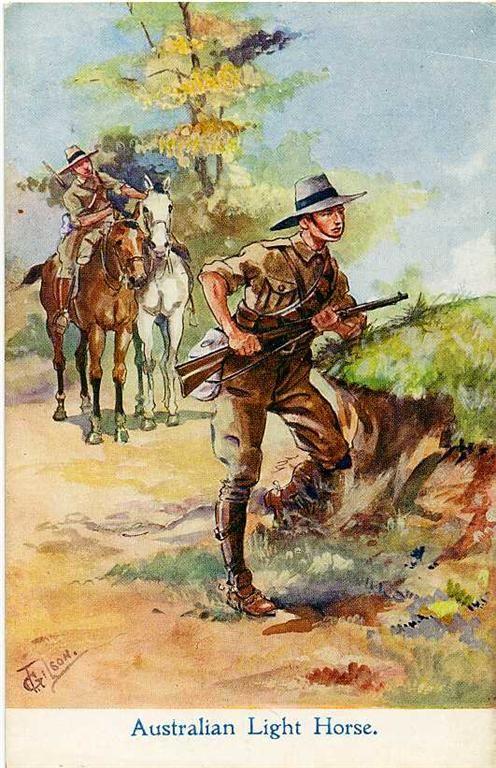 Australian Light Horse Trooper Our Famous Lighthorse Boys. http://www.booksonwaraustralia.com