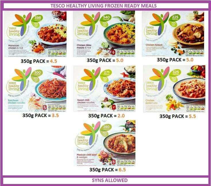 Tesco healthy living ready meals