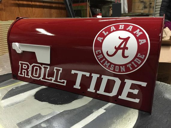 Custom Alabama Crimson Tide Mailbox ROLL TIDE by 3GCustomMailboxes