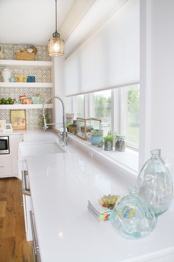 window sill decorating ideas kitchen eclectic with large kitchen tile wall window treatments