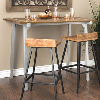 Tabouret Metal and Wood Table | Overstock.com Shopping - The Best Deals on Bar Tables