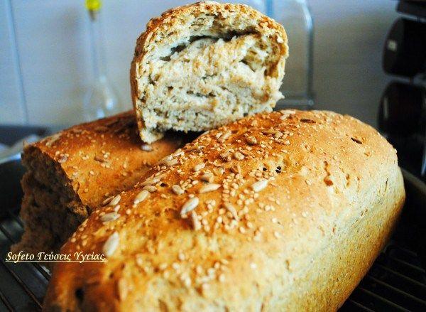 σπιτικό πολύσπορο ψωμί 1