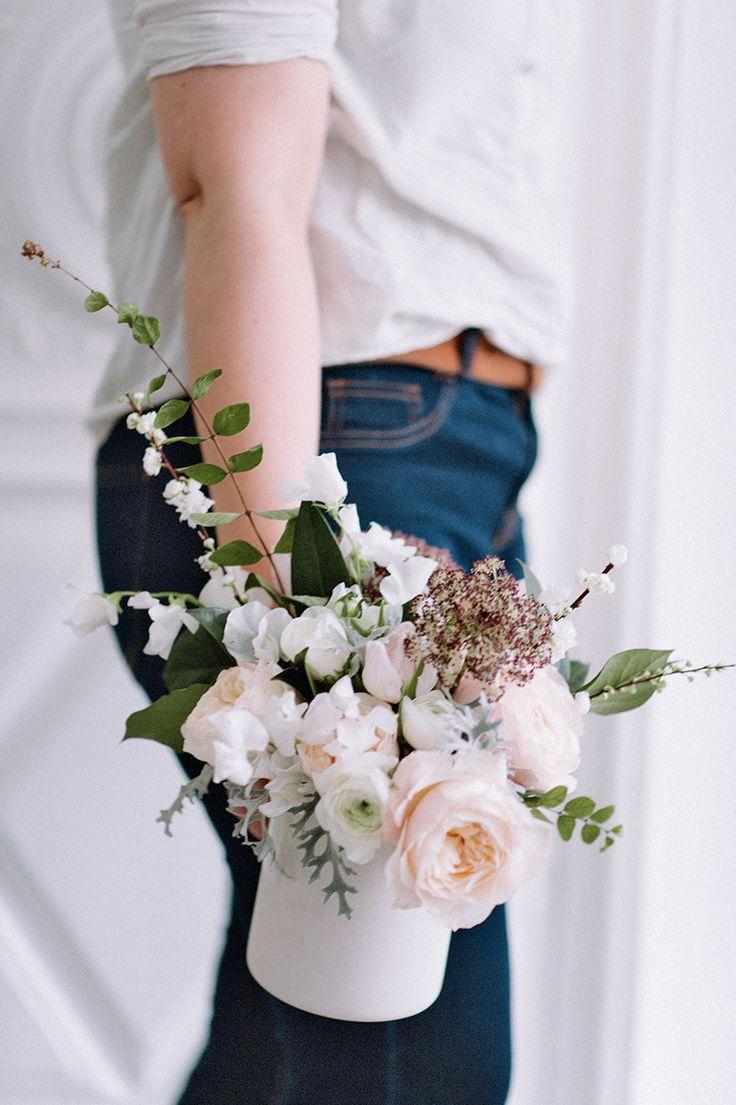 Un bouquet de fleurs rond