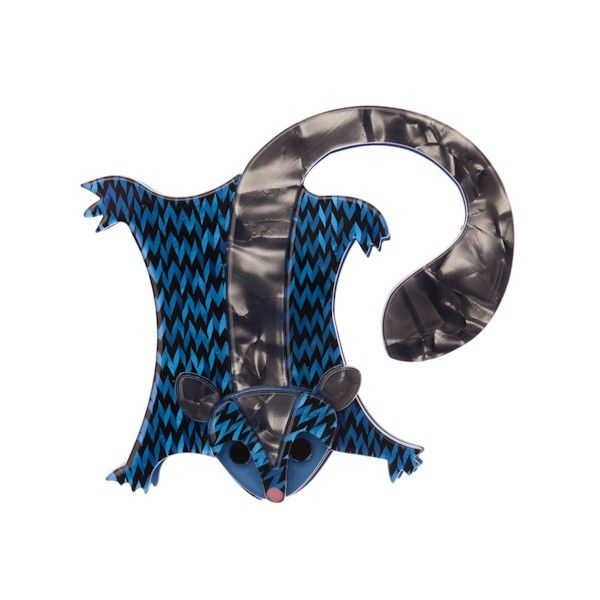 """Limited Edition Saba Sweet Sugar Glider resin brooch in dark blue (Australiana Collection - Autumn 2015) """"Ridin' and gliding on the wind. But only at night and in suitable conditions. Sensible!"""""""