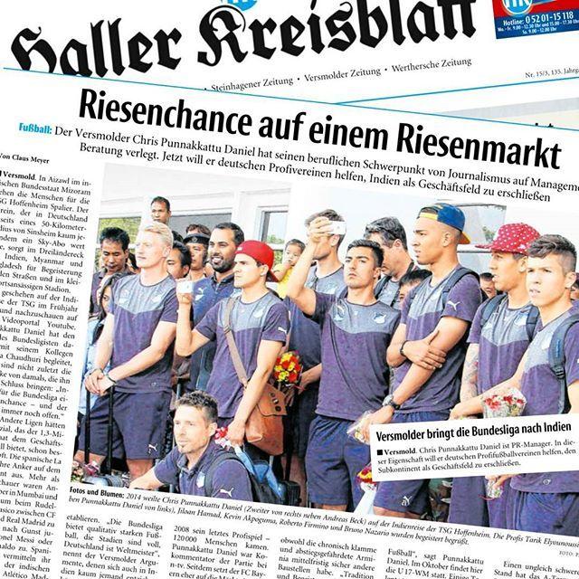 A local newspaper report on my work with German clubs / federations and the opportunities for the @bundesliga_en in India. (Haller Kreisblatt, Jan. 18)   🔖 #HallerKreisblatt #news #newspaper #Germany #India #football #CPDFootball  #IndianFootball #Bundesliga #management #consulting #pr #media #journalism #Versmold #Halle #OWL #Ostwestfalen #work #hometown #potd #sports #sportsbusiness #Fußball #Fuppes #Internationalisierung #FIFA #UEFA #DFB #DFL