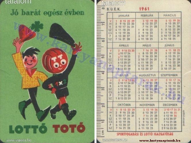 1961 - 1961_0073 - Régi magyar kártyanaptárak