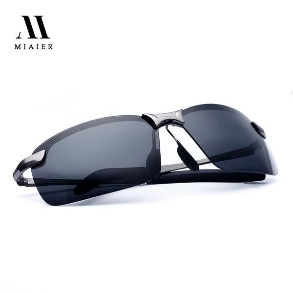 MIAIER Aluminum Polarized Sunglasses Men Sun glasses Brand Designer Glasses Driver Ultra Lightweight UV400 Oculos Gafas Eyewear