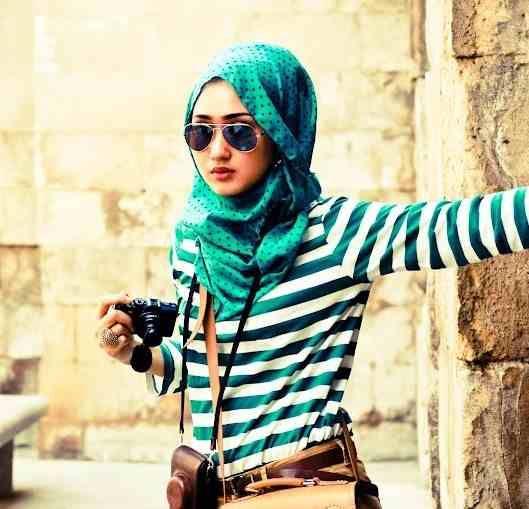 stylish and modern hijab