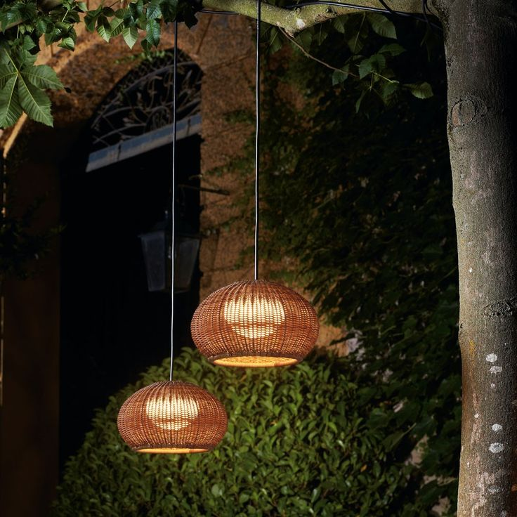 Garota Outdoor Plug-In Pendant Light - By Alex Fernández Camps, from Bover: $865.30