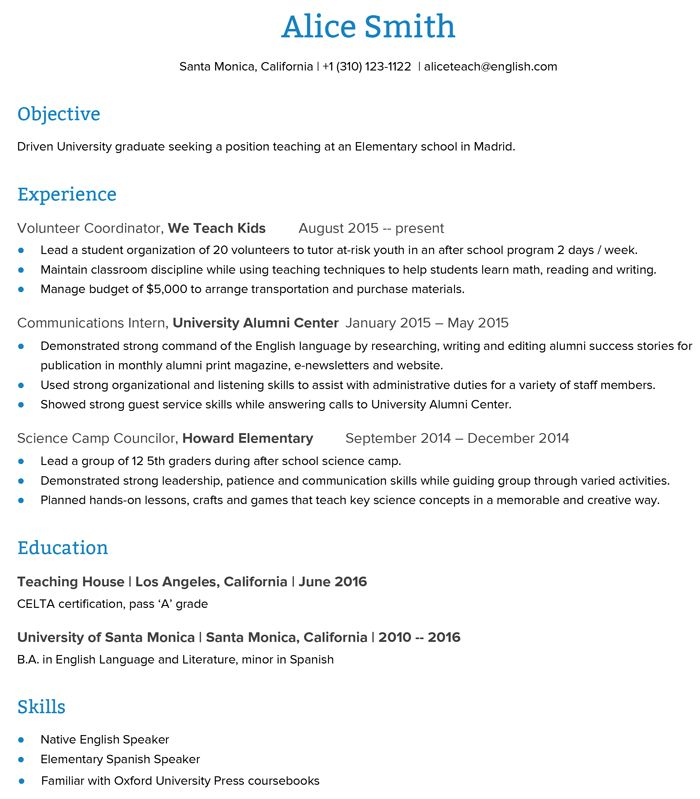 The 25+ best Teacher resumes examples ideas on Pinterest - resume in english sample