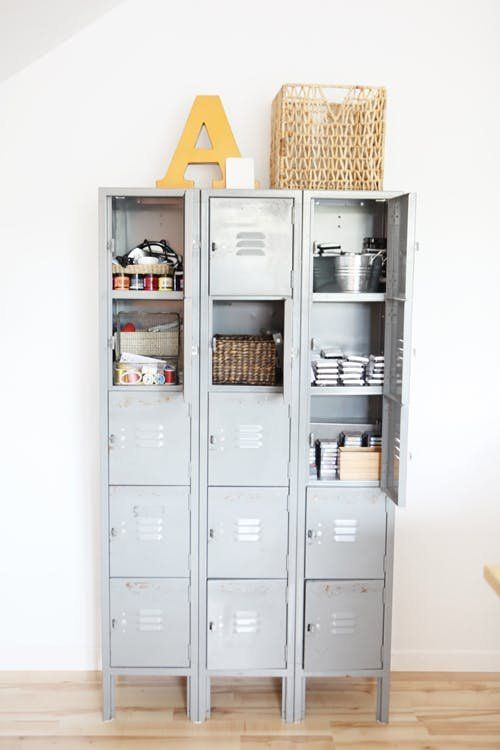 Surprising Storage Ideas - Vintage Lockers | Apartment Therapy
