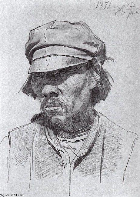Ilya Repin Portrait of a kalmyk