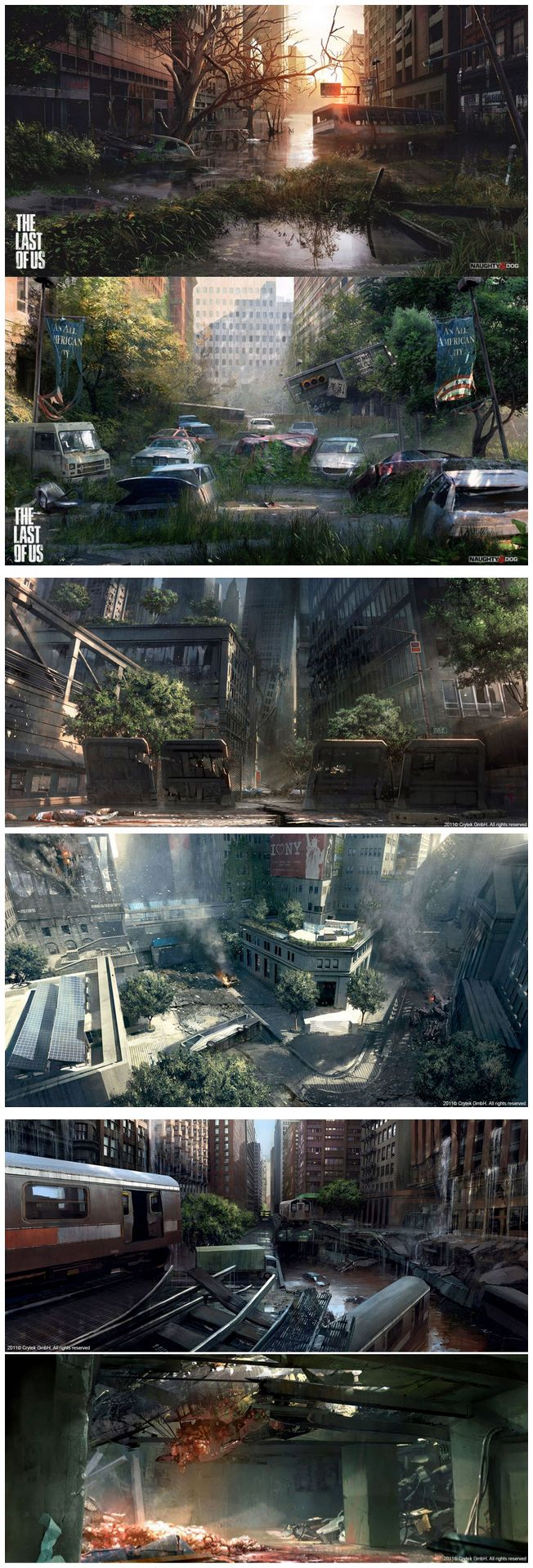"This image of multiple captures from the game ""The Last of Us"" is a motivator in mastery. The game has some of the most beautiful, well done, graphics I have seen in video games and it motivates me to further hone my personal abilities to a level much higher than they are now."