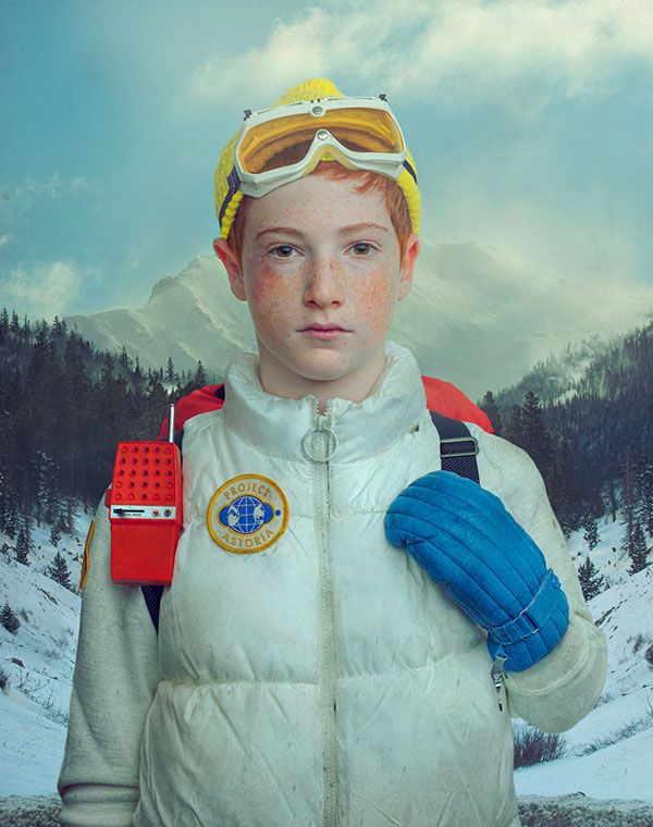 "Project Astoria: ""Boy in winter uniform 1"" (2013) by Todd Baxter. I love this mix of illustration/photography style, really unique and raw. A little bit retro and spooky. A little bit Wes Anderson?"