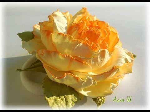 DIY Квітка з фоамірану для початківців. Украшение из фоамирана для начинающих. - YouTube