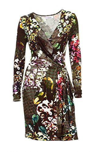 Linea Tesini Damen-Kleid Druckkleid Mehrfarbig Größe 40