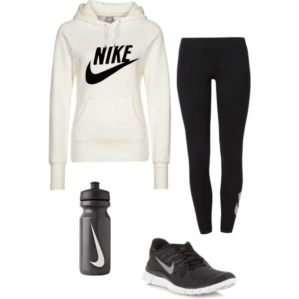 Nike running outfit...minus the running part!  :)