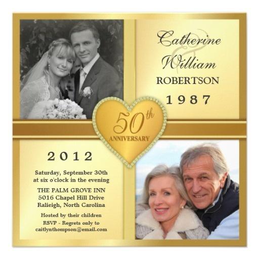 12 best 50th wedding anniversary invite ideas images on pinterest 50th anniversary sparkle heart photo invitations solutioingenieria Gallery