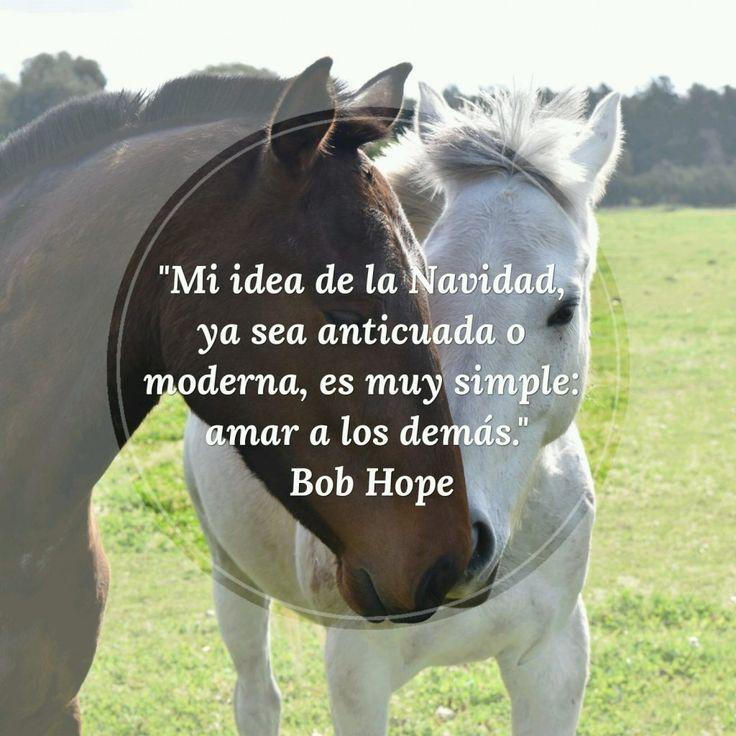 """""""Mi idea de la Navidad, ya sea anticuada o moderna, es muy simple: amar a los demás."""" Bob Hope #inspiracion #motivacion #navidad #frases"""