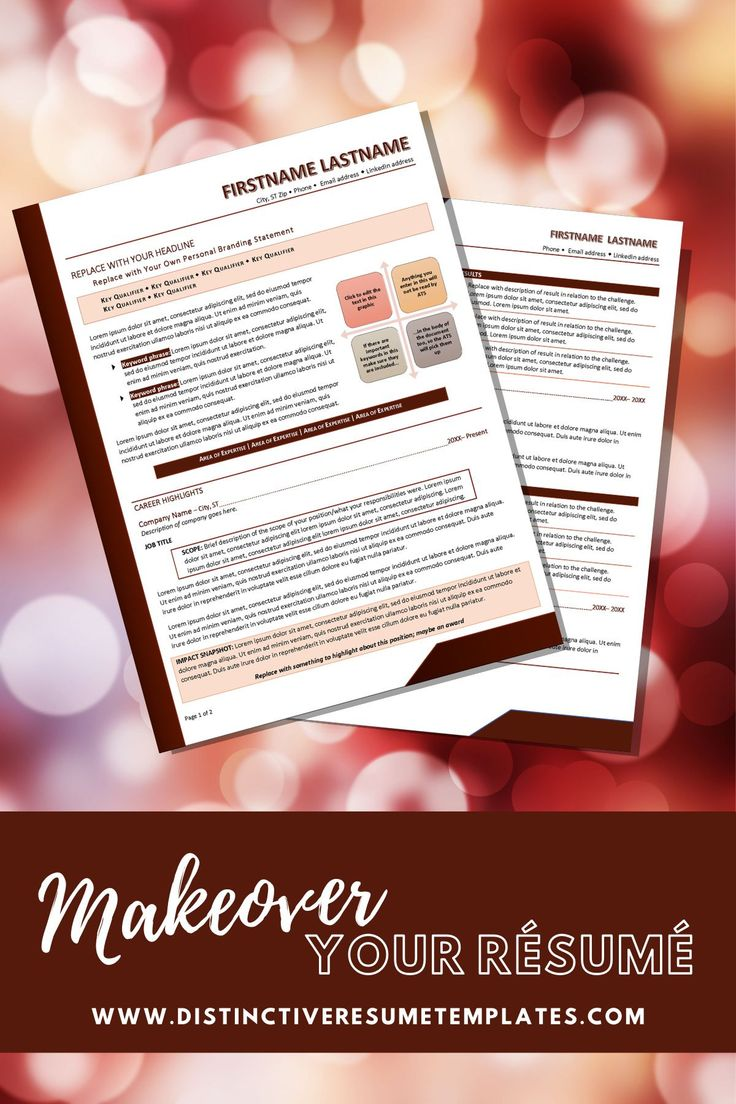 Create an eyecatching resume in minutes resume template