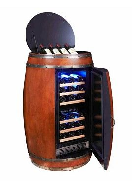 Unique, rustic, wine cabinet with dual storage temperature settings for red&white wines!