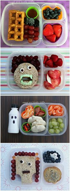 Fun Halloween lunches ideas | packed in  @EasyLunchboxes