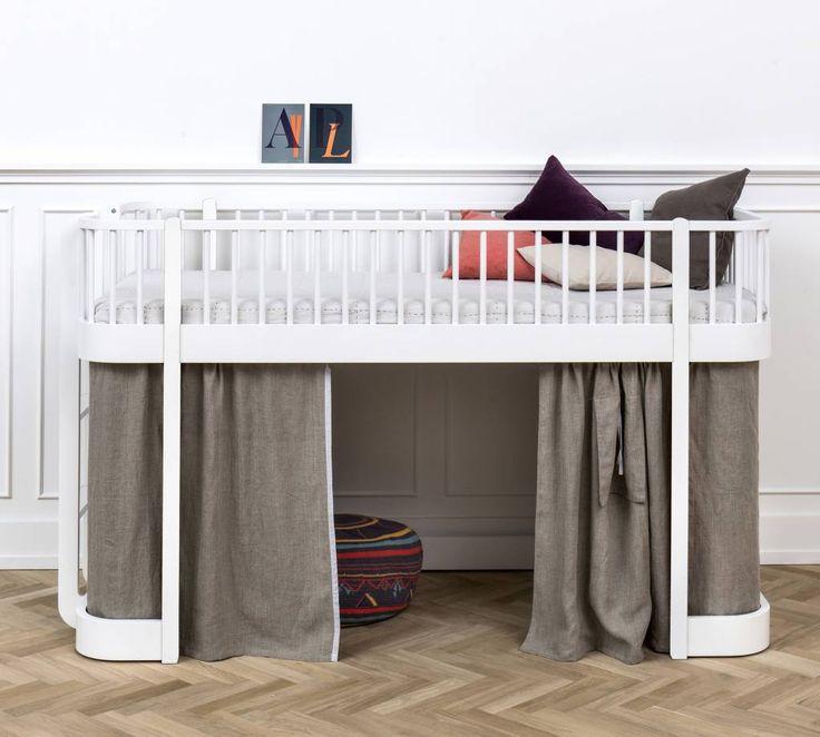 hochbett halbhoch von oliver furniture mit niedriger einstiegshhe und hohem fallschutz - Einfache Hausgemachte Etagenbetten