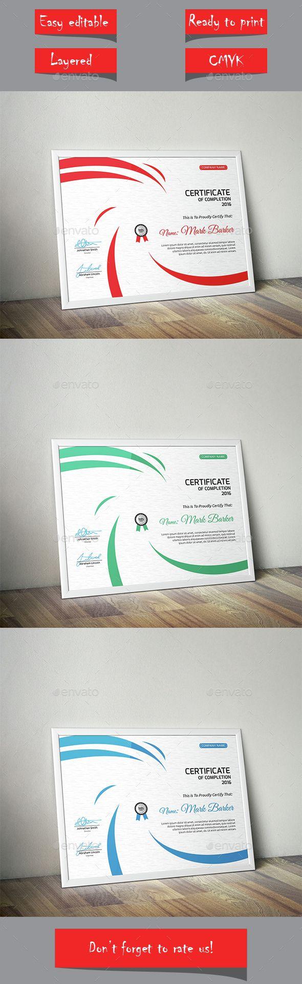213 best CERTIFICATE images on Pinterest | Award certificates ...