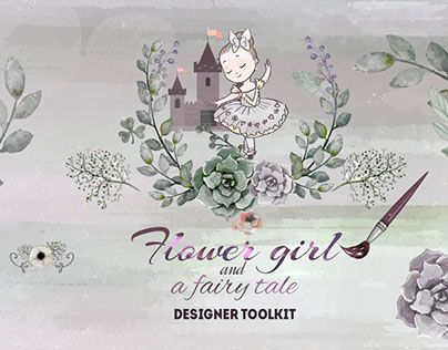 """Check out new work on my @Behance portfolio: """"Designer toolkit """"Flower girl and a fairy tale"""""""" http://be.net/gallery/47260655/Designer-toolkit-Flower-girl-and-a-fairy-tale"""