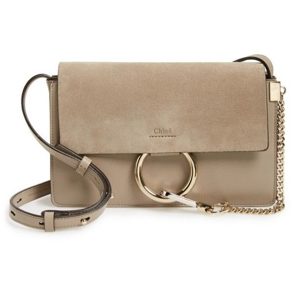eeaa3e7ca7f Women s Chloe Small Faye Leather Shoulder Bag (18.798.365 IDR) ❤ liked on Polyvore  featuring bags