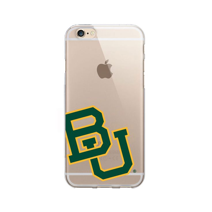 Baylor University Clear Phone Case, Cropped V1