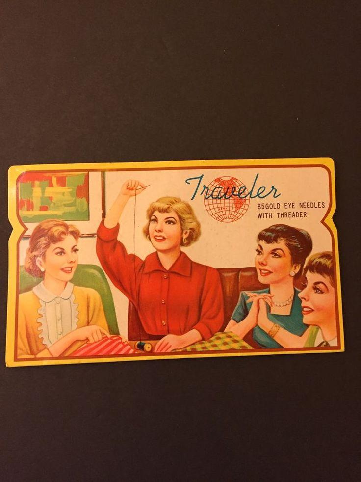 Vintage Sewing Needles Darners Traveler 85 Gold Eye