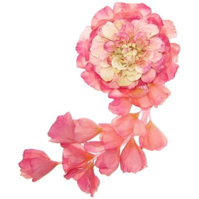 髪飾り・ヘッドドレス/メリア仕立てのヘッドコサージュ(ピンク) - ウェディングヘッドドレス&花髪飾りairaka