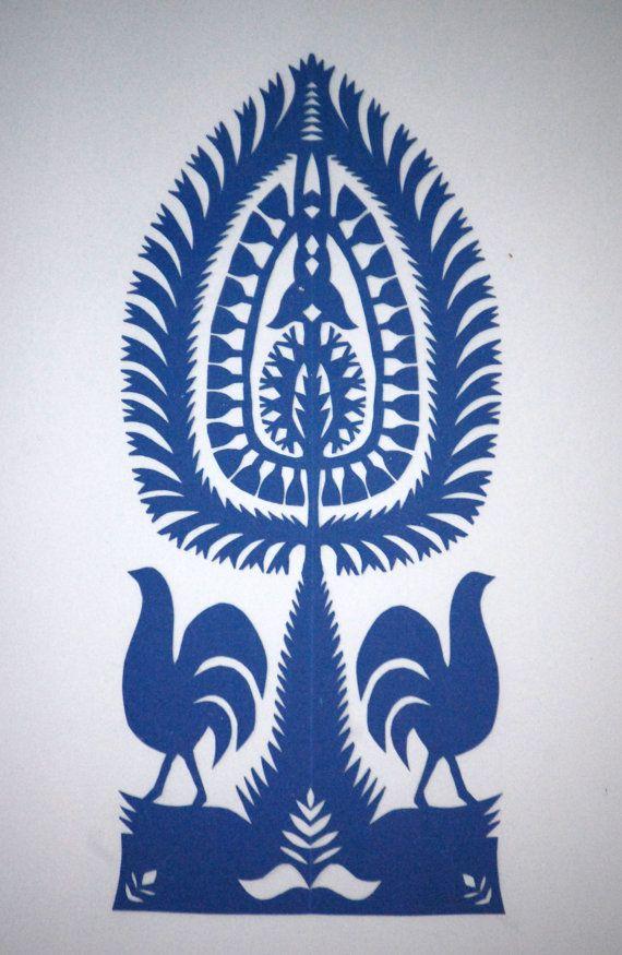 Original Papercut Wycinanki Polish Folk Art.