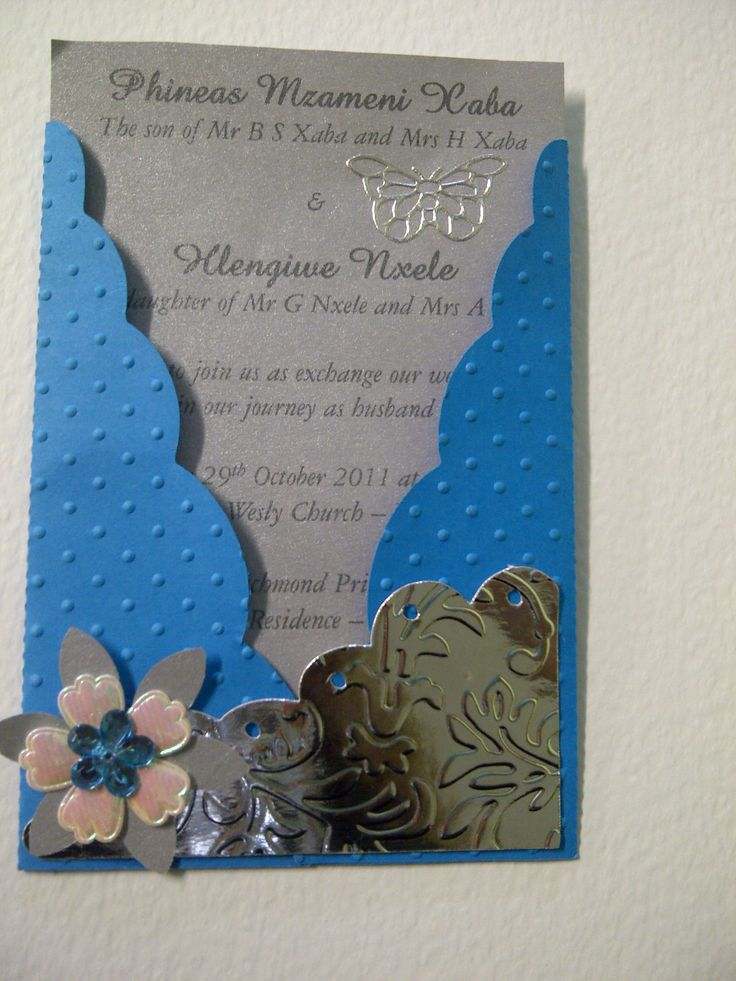 Scallop Pocket card can be adjusted for traditional or any wedding - Copyright - Creative Flair - 0829445889