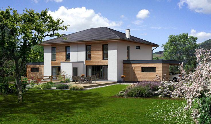 Doppelhaus 140 w haus au en pinterest haus for Doppelhaus garten gestalten
