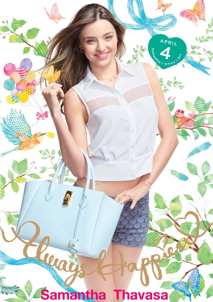 """This is the commercial ad of """"Samantha Thavasa (サマンサタバサ)"""" aired in March 2012 in Japan. This commercial ad of """"Samantha Thavasa"""" that was just released features """"Miranda Kerr"""", a Australian model born in 1983."""