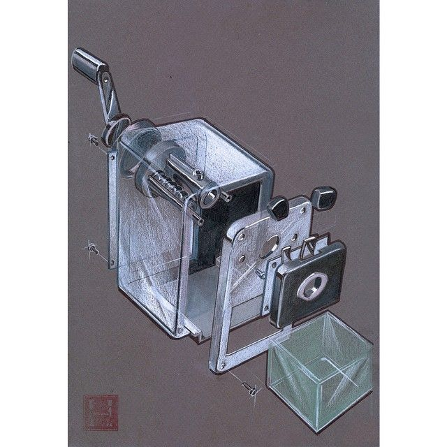 Exploded Mechanical Pencil Sharpener #idsketching #industrialdesign